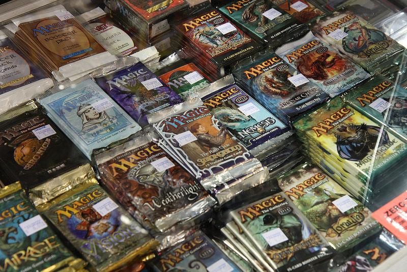karty do gry magic w opakowaniach