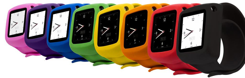 silikonowe zegarki w kolorach tęczy