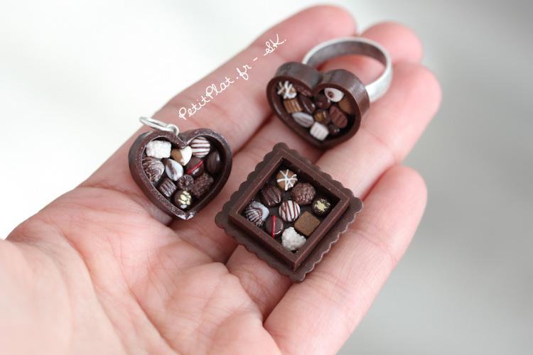 breloczki w kształcie czekolatek
