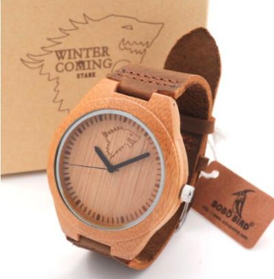 zegarek z drewna
